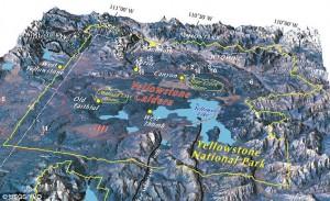 спящий вулкан под Йеллоустоунским национальным парком