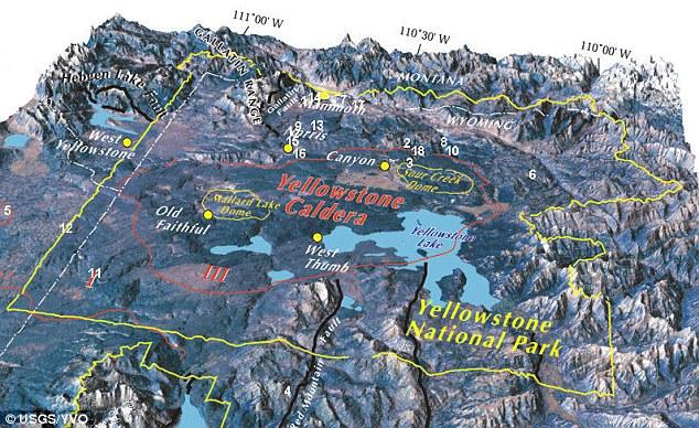 США, вулкан под Йеллоустоунским национальным парком