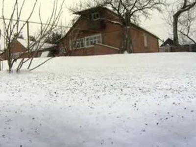 Под Харьковом выпал черный снег