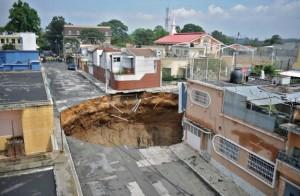 Провал грунта в Гватемале