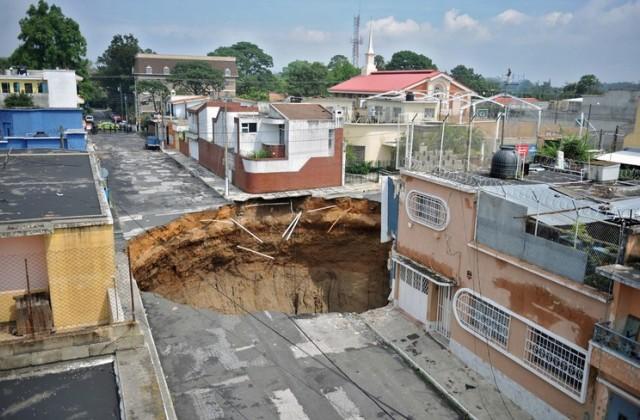 Гватемала, провал грунта