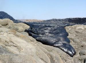 Извержение вулкана в Африке