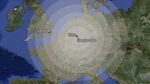 Территории, которые пострадают от извержения немецкого супервулкана