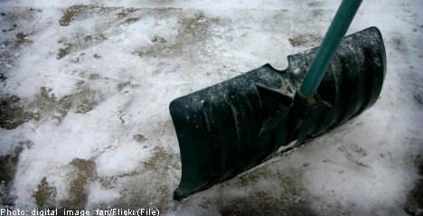 В Швеции летом выпал снег