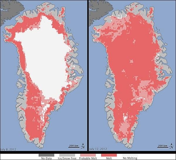 Гренландия: таяние льдов ускорилось