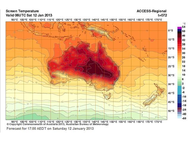 Австралия: аномальная жара, лесные пожары. Введен новый цвет