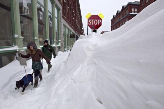 Снежный шторм Немо в США