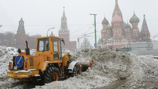 Снегопады в Москве и по всему миру