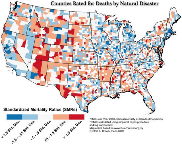 Карта смерти америки