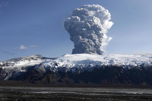 Извержение вулкана в Исландии повлияло на климат Европы
