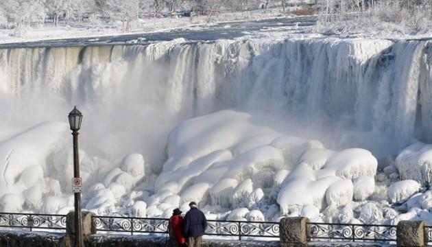 Ниагарский водопад замерз, зима 2014 года
