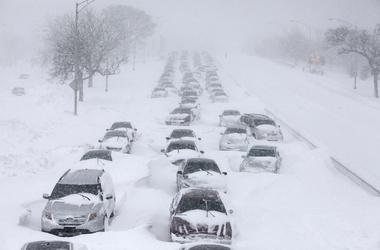 Сильные морозы в США, зима 2014