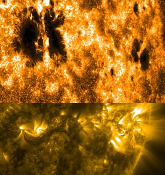 солнечные вспышки в начале 2014 года