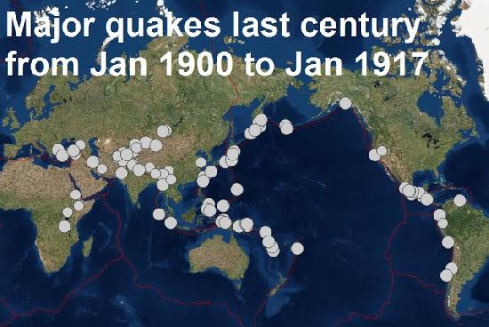Землетрясения в начале 20 века
