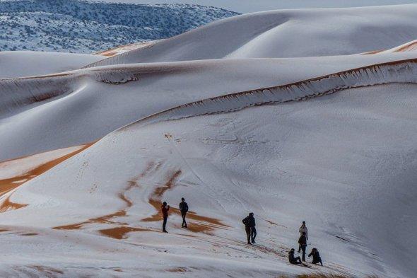 В прошлом году снег в Сахаре выпал в декабре